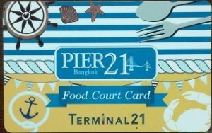 ターミナル21のフードコートのカード